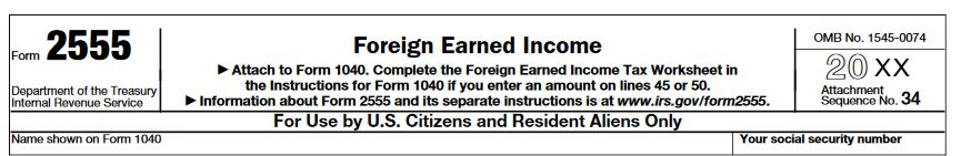 Foreign earned income worksheet 2014